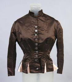 1880 Bodice Culture: American Medium: silk satin