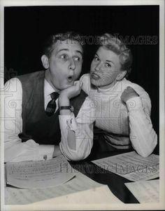 1952 Press Photo Actor Alan Young with Actress Doris Day
