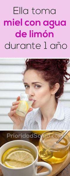 Ella toma miel con agua de limon durante 1 año, increíble lo que pasó.