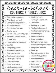 Back-to-School Routines & Procedures – Create.Share Back-to-School Routines & Procedures Upper Elementary Snapshots: Back-to-School Routines & Procedures Back To School Night, 1st Day Of School, Beginning Of School, Back To School Kids, School Grades, School School, School Tips, School Stuff, Classroom Procedures