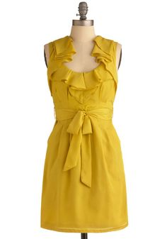 Maybe something in this colour? Change it up...yellow + navy dresses? #modcloth $54.99