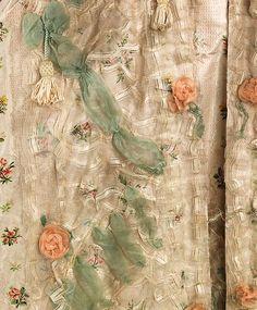 Robe à la Française Date: 1770–75 Culture: French Medium: silk, bast fiber Accession Number: 2009.300.690a, b