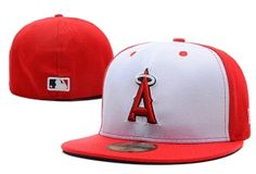 outlet store b47bf 54b02 Los Angeles Angels of Anaheim MLB 59FIFTY Fitted Hats Flat Brim 10695  Baseball Caps For Sale