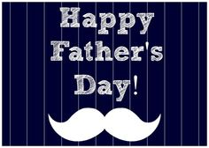 Father's Day Pinstripe and Mustache Printable PDF by TheHaloEffect