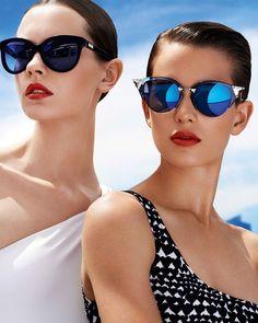 on left: glamorous velvet sunglasses by Giorgio #Armani