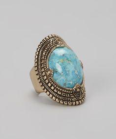 Bronze & Turquoise Ring