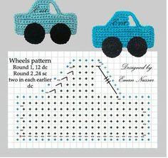 Patrón de crochet de coches ✿⊱╮Teresa Restegui http://www.pinterest.com/teretegui/✿⊱╮
