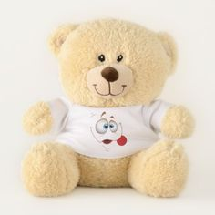 Goofy Smiling Face Teddy Bear - fun gifts funny diy customize personal