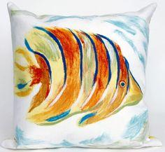 Angel Fish Pearl Indoor/Outdoor Pillow