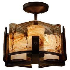 3-Light Indoor Semi-Flush Mount