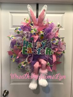 A personal favorite from my Etsy shop https://www.etsy.com/listing/515296813/easter-bunny-wreath