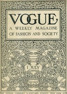 I would love a chest full of vintage fashion magazines.  What a great day that would be looking at all the former glamous clothes and models.