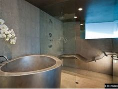 I could lounge in this shower for a long time!!