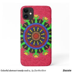 Colorful abstract trendy cool unique Case-Mate iPhone case Iphone 11, Apple Iphone, Iphone Cases, Plastic Case, Ipad Case, Create Your Own, Smartphone, Colorful, Abstract