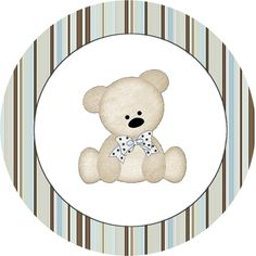 Teddy Bear Family, Toppers or Free Printable Candy Bar Labels. Dibujos Baby Shower, Imprimibles Baby Shower, Baby Shower Parties, Baby Boy Shower, Baby Shower Themes, Candy Bar Labels, Oh My Fiesta, Baby Shower Cupcake Toppers, Baby Shawer