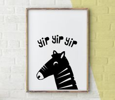 Zebra Print Nursery Animal Print Wall Art Kids Room