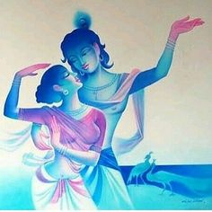 No automatic alt text available. Radha Krishna Pictures, Radha Krishna Love, Krishna Photos, Radhe Krishna, Lord Krishna, Lord Shiva, Krishna Drawing, Krishna Painting, Indian Art Paintings