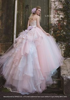 Wedding Dress Ball Gown If you're looking for a princess-worthy look, don't miss this pastel pink x blue ball gown from Laura Ashley! Elegant Dresses, Pretty Dresses, Dream Wedding Dresses, Wedding Gowns, Bridal Dresses, Prom Dresses, Formal Dresses, Blue Ball Gowns, Fairytale Dress
