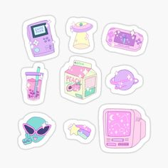 Kawaii stickers featuring millions of original designs created by independent artists. Stickers Kawaii, Preppy Stickers, Diy Stickers, Printable Stickers, Kawaii Drawings, Cute Drawings, Journal Stickers, Planner Stickers, Cute Sticker