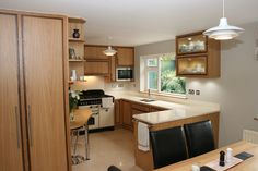 Something a bit different? Oak and walnut in-frame kitchen with quartz work surface