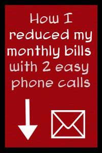 I thought I'd see if there was any way to lower the monthly bills, even if by just a little. I reduced my bills with 2 easy phone calls.