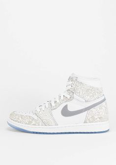 JORDAN Basketballschuh Air Jordan 1 Retro Hi OG Laser wht slvr - Schuhe f2256682a4