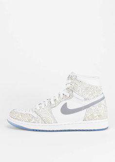 JORDAN Basketballschuh Air Jordan 1 Retro Hi OG Laser wht/slvr - Schuhe