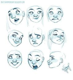 Carton Facial Expression Reference Guide | Drawing References and Resources | Scoop.it
