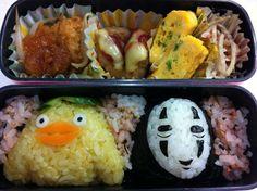 Twitter from @riekorin おっはよ〜(^-^)/今日は、千と千尋のサブキャラ弁当〜♪ #kyaraben