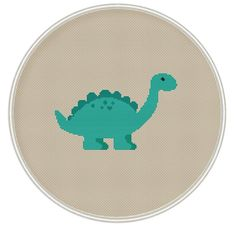 Dinosaur cross stitch pattern, Instant Download, Free shipping, Cross Stitch…