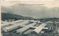ANTIGUA POSTAL DE XAUEN LOS BARRACONES DEL CAMPAMENTO GENERAL  protectorado español ne nc - Foto 1