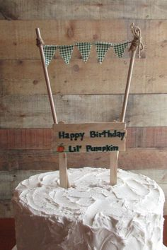 Pumpkin Birthday Cakes, Pumpkin Birthday Parties, Pumpkin 1st Birthdays, Birthday Party Themes, Happy Birthday, Little Pumpkin, Birthday Cake Toppers, Handmade Gifts, Etsy
