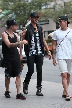 Adam Lambert Out and About Before The Queen Show In Montreal