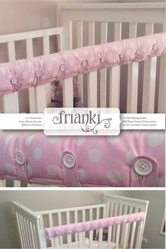 Cot Rail Teething Guard/Cover PDF Photo Tutorial & Instructions for your own custom pattern Sick of the tiny teeth that bite into the rail on that beautiful cot you saved to buy? I was! This pattern has been created to cover any Cot Rail to guard and protect it from teething babies and