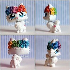 Rainbow Flower Pomeranian (Piaslittlecustoms OC) Littlest Pet Shop LPS custom