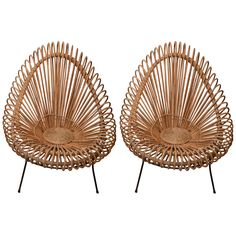 Pair Of Albini Rattan Chairs
