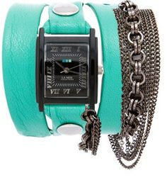 My custom designed watch from La Mer Collections. Mint and black! #CUSTOMLAMER