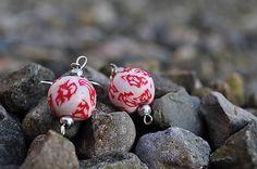 HandmadeFamily / Červeno-biele náušnice