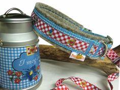 """Halsband """"Maxl"""" - fesches Hundehalsband für die Buam im Wiesn-Style - www.peppetto.de"""