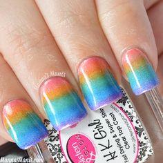 Mani recreation: Rainbow gradient