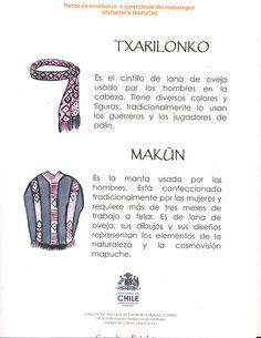 vestimenta mapuche - Buscar con Google Historical Clothing, South America, Education, Chile, Folklore, Patagonia, Crochet, Google, Wisdom