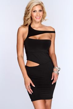 Looking for the perfect little number to wear to the party of the year?  have everyone talking and gawking at you as u flaunt this sizzling hot dress! All the pretty little ladies will be asking where u bought this sexy piece! Featuring sleeveless style, cutout design, short length, and finished with a sexy curvacious tight fit.. 90% polyester 10% spandex.
