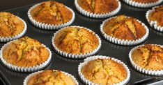 Looking for a gluten free muffin? These easy to make high protein banana bread muffins are perfect for on the go snacks or for a light breakfast. Banana Protein Muffins, Banana Bread Muffins, Baking Cookbooks, On The Go Snacks, Gluten Free Muffins, No Bake Cookies, Stick Of Butter, Muffin Recipes, Ovens