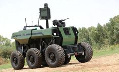 Israel Aerospace Industries (IAI) has expanded its ground robot portfolio with the introduction of the new RoBattle unmanned ground vehicle. Drones, Combat Robot, Military Robot, Military Gear, Military Life, Autonomous Robots, Mobile Robot, Drone Technology, Military Equipment