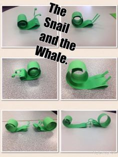 Our picture book is The Snail and the Whale by Julia Donaldson. Here are our fantastic snails.