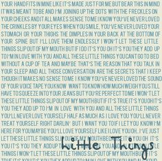 Little Things Lyrics. (One Direction) I love this song. Little Things Lyrics, One Direction Little Things, One Direction Fotos, One Direction Lyrics, Direction Quotes, One Direction Pictures, I Love One Direction, 1d Songs, Best Songs