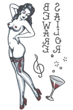 Apologise, Naked pin up girl tattoo drawing message simply