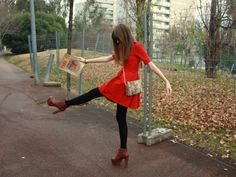 Rouge dress and brown Lita | Chicisimo