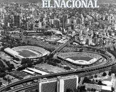 Estadio Olímpico y Universitario de la Universidad Central de Venezuela. Caracas, 24-07-1988 (LUIS AGUILERA / ARCHIVO EL NACIONAL)