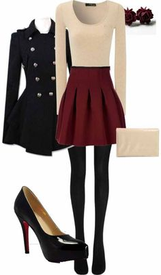 Cute Christmas Outfit Ideas Picture 38 cute christmas outfits for girls my clothes fashion Cute Christmas Outfit Ideas. Here is Cute Christmas Outfit Ideas Picture for you. Cute Christmas Outfit Ideas how to dress for a christmas party 11 fe. Fall Winter Outfits, Autumn Winter Fashion, Holiday Outfits, Winter Wear, Winter Style, Winter Outfits With Skirts, Christmas Party Outfit Casual, Winter Dresses, Casual Party